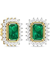 PC Jeweller The Ishbel 18KT Yellow Gold, Diamond and Gemstone Earring for Women