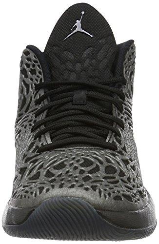 Nike Jordan Ultra.fly, espadrilles de basket-ball homme Noir (Noir / Gris foncé MTLC-hématite)