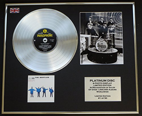 "THE BEATLES/Platin Schallplatte & Foto-Darstellung/Limitierte Edition/""HELP!"""