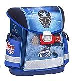 Ergonomischer Schulranzen für die Grundschule - 1-3 Klasse / Mädchen / Ice Hockey blau von Belmil
