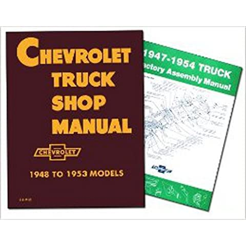 CHEVROLET TRUCK REPAIR SHOP & SERVICE MANUAL & FACTORY ASSEMBLY MANUAL SET. 1947 1948 1949 1950 1951 1952 1953 1954. Sedan Delivery; Light Duty ½ ton Truck; ¾ ton & 1 ton Medium Duty Truck and 1-½ ton & 2 ton CHEVY
