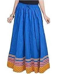 Creative StudioWomen Full Length Blue Skirt in Bottom(Dark Turquoise)(SMSKT504)