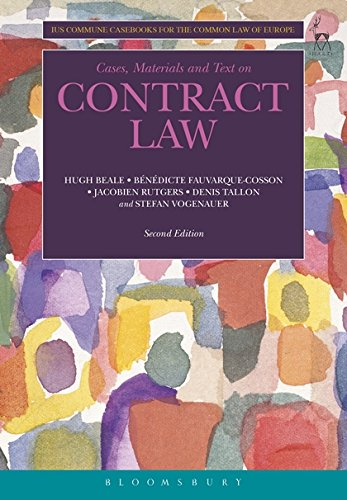 Contract Law (Ius Commune Casebooks for the Common Law of Europe): 5