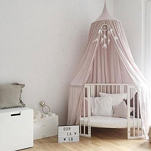 Baby Betthimmel Baldachin Baumwolle Rund Moskitonetz Insektenschutz Kinder Prinzessin Spielzelte