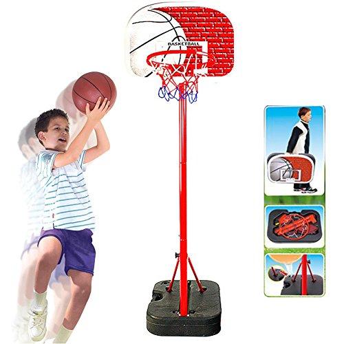 f1f9447aec14 BAKAJI Basket Canestro Valigetta Portatile per Bambini con Piantana in  Metallo Altezza Regolabile Fino a 166 cm con Pallone e Gonfiatore Base in  Plastica ...