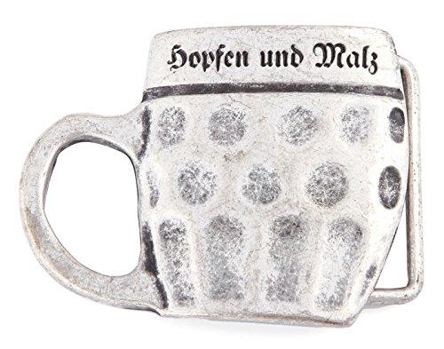Trachten Gürtelschnalle Bier Krug Maßkrug Bierkrug Bayern Gürtelschließe Gürtel Wechsel Schliesse Silberfarben Aluminium-krug