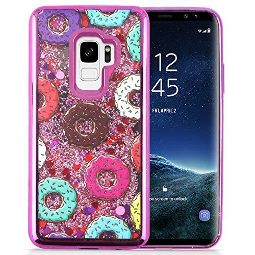Samsung S9 Liquid Glitter Design Snap Case Schutzhülle, Donuts Design Snap Case