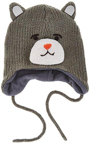 Name It - Nitmacute M Knit Hat Box 415, Berretto per bambini e ragazzi, grigio (dark grey melange), 9 mesi