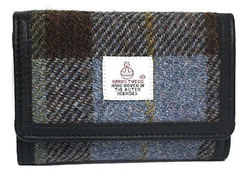 Harris Tweed Blau Tartan überprüfen Damen Geldbörse Boxed (Scott Überprüfen)