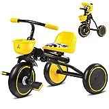 QWM-Las bicicletas infantiles para bebés Niños Carros de triciclo Carritos de bebé Niño Bicicletas 3 ruedas, plegable, 1-3 años Regalo para niños ( Color : Negro )