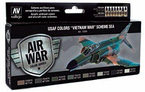 Vallejo 071204 Farbset, USAF Vietnam-Krieg,Schema SEA