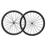 700C Carbon Lightweight Rennrad Laufräder 40mm Tief 25mm Breit Clincher Tubeless Ready (Bestes für: Klettern & sprinten)