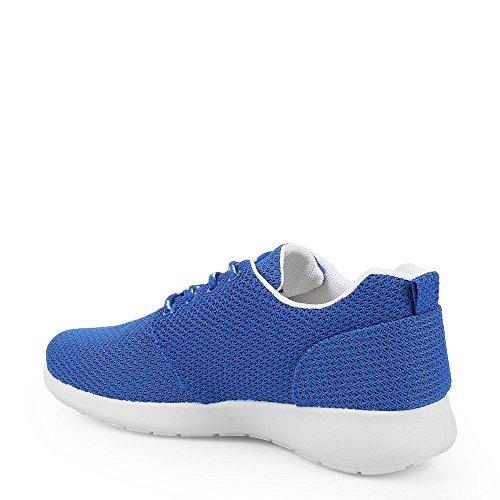Ideal Shoes–Sneaker Mesh Style Running Joella Blau - blau