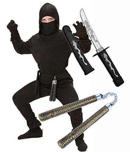 mit Schwert & Nunchuck Alter 5–13 (Ninja Mit Nunchucks)