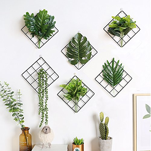 Metall Grid Panel Wand Pflanzen Blumen Halter Bild Display Bulletin-Board Modern Home Dekoration ()