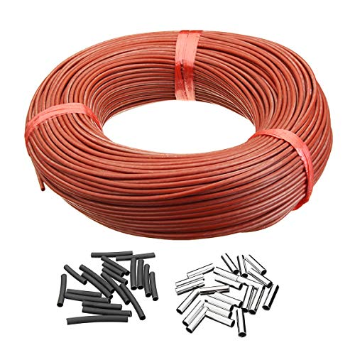 TANCHEN 33 Ohm Infrarot Heizung Fußbodenheizung Kabelsystem 100 m PTFE Karbonfaser Kabel Elektroboden (Fußbodenheizung-kabel)