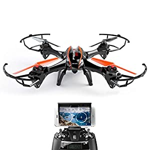 UDI U842 WiFi FPV Drone with 2MP HD Camera RTF Quadcopter with Gravity Induction Headless Mode and Low Voltage Alarm 2 Batteries 4GB TF Card