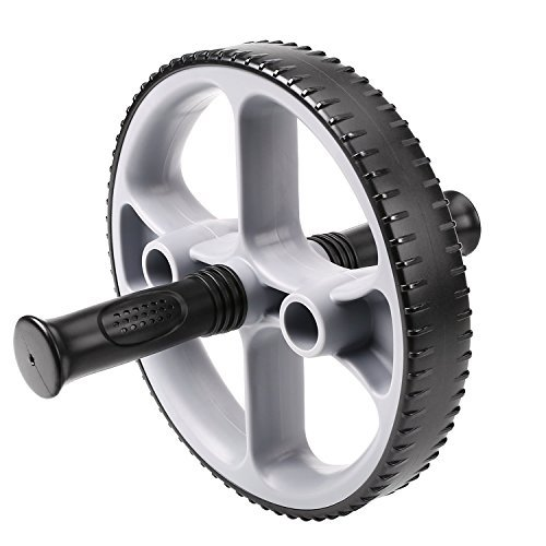HiHiLL Ab Roller Bauchtrainer Ab Wheel für Bauch-, Rücken, Arm-, Schultermuskulatur geeignet für Einsteiger und Fortgeschrittene