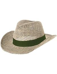 WITHMOONS Cowboy Cappello a Tesa Larga Western Cowboy Hat Paper Straw Linen  Fedora Panama Hat DW8659 a0c534e55876