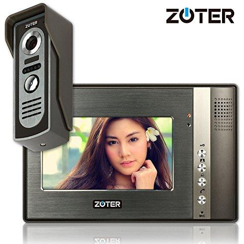 "Generic 7"" inch Color LCD Video Door Phone Doorbell Home Entry Intercom System 1 Monitor 1 Metal Camera Night Vision 702"