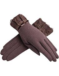 High Quality Femmes Warm Winter Gloves/ Gants en Dentelle/ Style Vintage