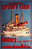 Captains Cabin Hamburg Blechschild Schild Blech Metall Metal Tin Sign 20 x 30 cm