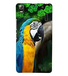 ColourCraft Cute Parrot Design Back Case Cover for LENOVO A7000 TURBO