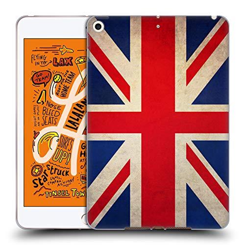 Head Case Designs Grossbritannien Britisch Vintage Fahnen Soft Gel Huelle kompatibel mit iPad Mini (2019) - Britische Vintage-print