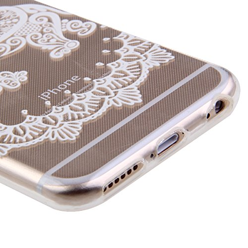 iPhone 6S Plus Hülle, iPhone 6 Plus Hülle, iPhone 6 Plus/ 6S Plus Silikon Crystal Case Hülle mit Malerei Muster, SainCat Weiche Transparent Silikon Schutzhülle Hülle Gel Bumper Soft TPU Case Backcase  Elefant
