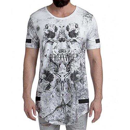 Black Kaviar Herren T-Shirt Goskin weiß L
