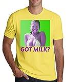 Photo de Aphex Twin Girl With A Man Face Got Milk Design Men's T-Shirt Homme par MaikesTic