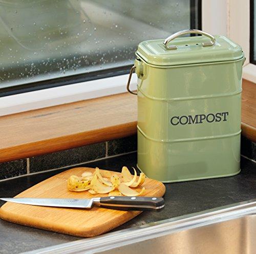 Kitchen Craft Living Nostalgia Kuchenkomposteimer Aus Metall Stahl Grun 11 5 X 17 X 23 5 Cm Www Muelltonne Muelltonnenbox De