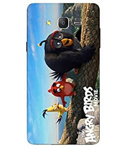 Snazzy Angry Bird Printed Colorful Soft Back Cover For Samsung Galaxy On7