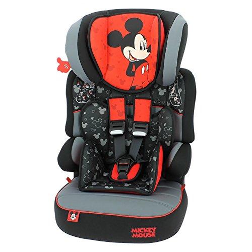 mycarsit Autositz und Sitzerhöhung Disney, Gruppe 1/2/3(von 9bis 36kg), Motiv Mickey