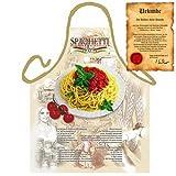 Italienisch Kochen - la Cucina Italiana Grembiule: Spaghetti Italia - mit Rezept Geschenke Kochschürze mediterrane Küche one Size, bunt mit gratis Urkunde : )