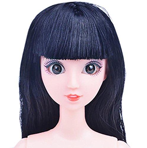 1Puppe + 2Zubehör Toys, mamum Nude Puppe mit Kopf 12Gelenk beweglichen Naked Bodies DIY Toys Zubehör Geschenk Mädchen Einheitsgröße g
