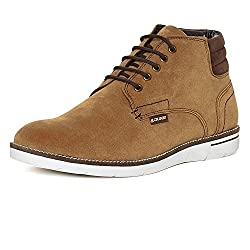 Duke Mens Synthetic Tan Coloured Boots 9
