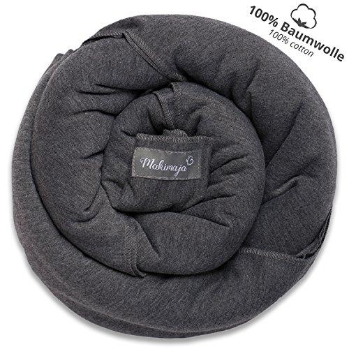 Écharpe de portage 100% coton - gris foncé - porte-bébé de haute qualité pour nouveau-nés et...