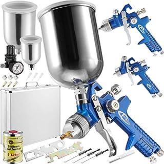 TecTake Gravity Feed Spray Gun Set - different models - (Set 400523)