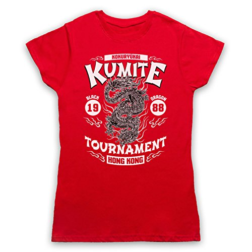 Bloodsport Kumite 1988 Black Dragon Tournament Damen T-Shirt Rot