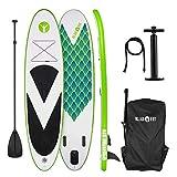 Klarfit Spreestar 320 aufblasbares Paddelboard SUP-Board-Set 320x12x81 grün