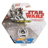 Hot Wheels Star Wars Emperor Palpatine im Imperial Shuttle Fahrzeug - Charaterfahrzeug Battle Rollers