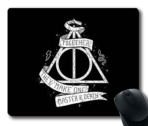 Gaming Mouse Pad, Customized MousePads Deathly Hallows Harry Potter Natural Non-Slip Eco Rubber Durable Design Computer Desk Stationery Accessories Gifts For Mouse Pads by Fun Custom Online