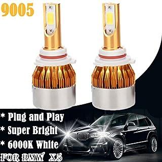 Helle LED-Scheinwerfer 9005Low Beam Lampen für BMW X5(1999bis 2004), 6000K Super Bright Lights Plug und Play Fehler frei Ersatz Leuchtmittel Halogen Main