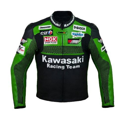 Oficial Kawasaki Racing Chaqueta de cuero (M (EU50))