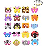 CCINEE 16 Assorted Kids Foam Animal Masks for Party Bag Fillers, Pack Of 24