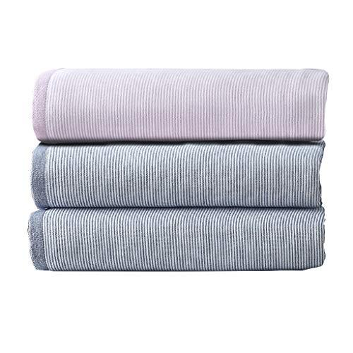 BNBO-L HWH Gestreiftes Handtuch, Haushalt Bad weichen Tuch verschleißfesten wasseraufnahme Gesicht Towel 33 * 75 cm, 3 stück Saugfähige Handtücher (Farbe : B)