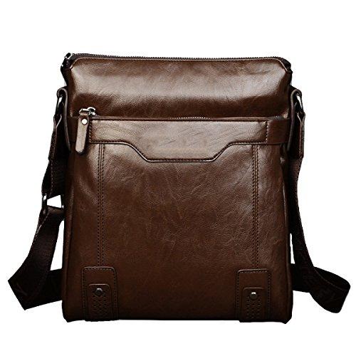 Yy.f Tide Beutel Mann Tasche Umhängetasche Messenger Weichen Beutel Festen Beutel Fashion Extrinsische Intrinsische Und Praktisch Brown