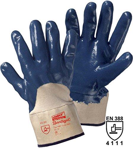 Gants de protection Leipold + Döhle 1451 Caoutchouc nitrile, partiellement revêtu EN 388 Taille 10 (XL)
