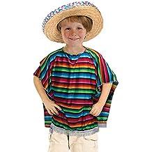 Mexican Poncho costume Kids Fancy Dress